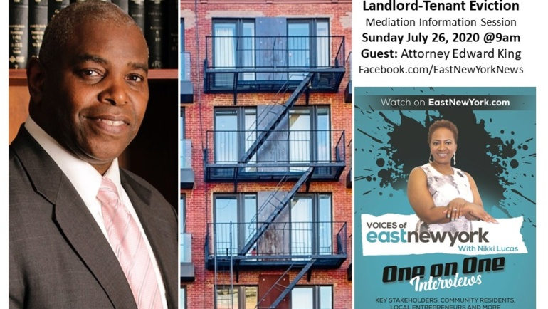 LiveStream of Landlord Tenant Eviction Mediation Information Session Sunday July 26 at 9am on VOICES of East New York